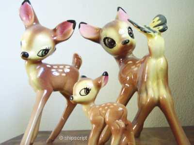 Bambi's porcelain family