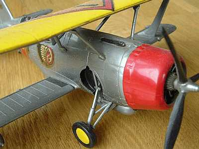 Biplane from front